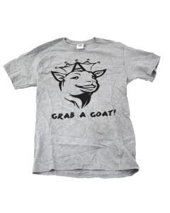 Anabolix 'Grab A Goat' Tee - Gray-S