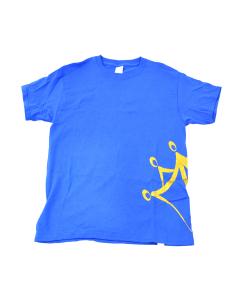 Anabolix Logo Tee - Blue - Gold Glitter-YM