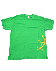 Anabolix Logo Tee - Green - Gold Glitter-YM