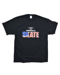 Anabolix American Flag Logo Tee - Black