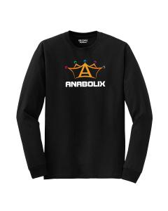 Anabolix Long Sleeve Logo Shirt-Black-S