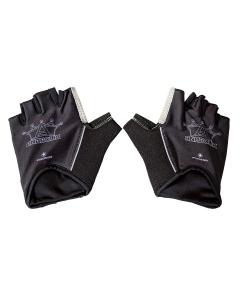 Anabolix Fingerless Roadstar Skate Gloves-Onyx-L