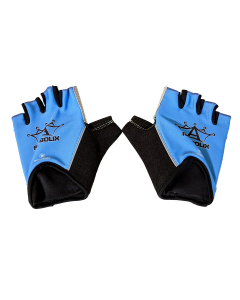 Anabolix Fingerless Roadstar Skate Gloves-Sapphire-XL