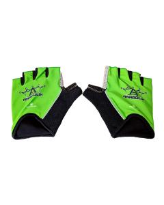Anabolix Fingerless Roadstar Skate Gloves-Emerald-S