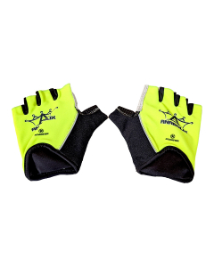 Anabolix Fingerless Roadstar Skate Gloves-Canary-S