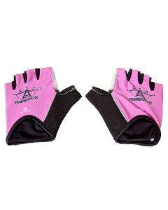 Anabolix Fingerless Roadstar Skate Gloves-Pink Topaz-S