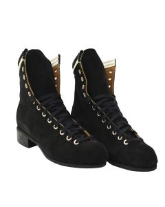 Oberhamer Blue Skate Boots - Black Suede