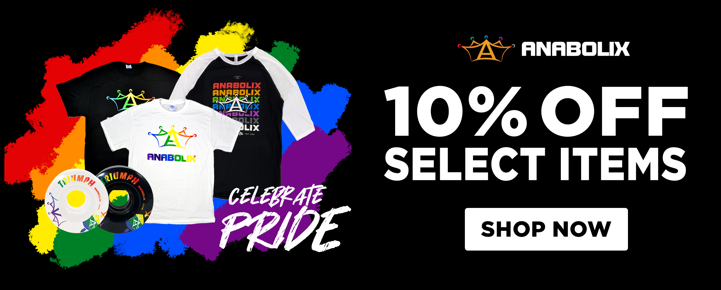 anabolix pride month 10% off select items