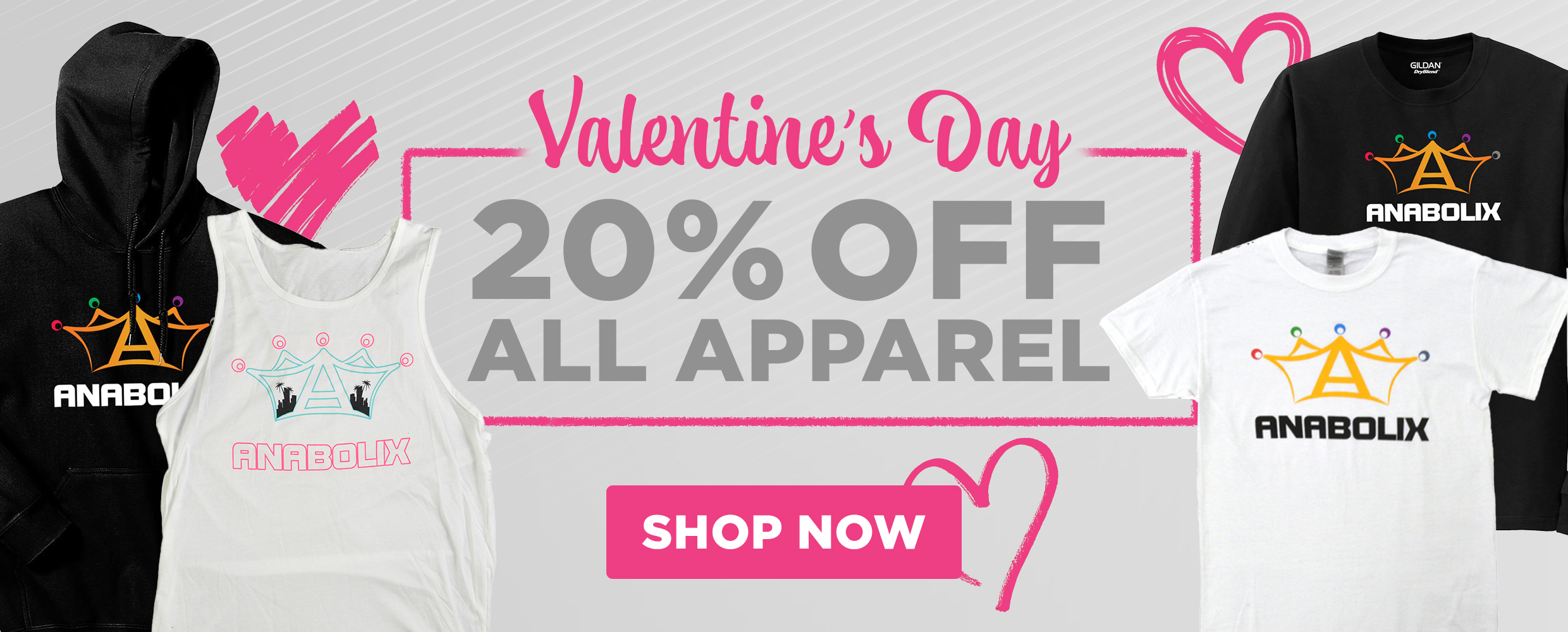 valentine's day 20% off all apparel